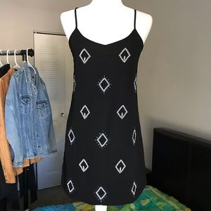 Old Navy Black Beaded mini/midi dress